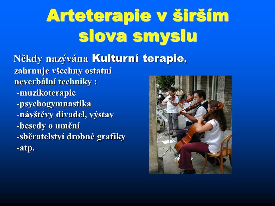 Arteterapie v širším slova smyslu