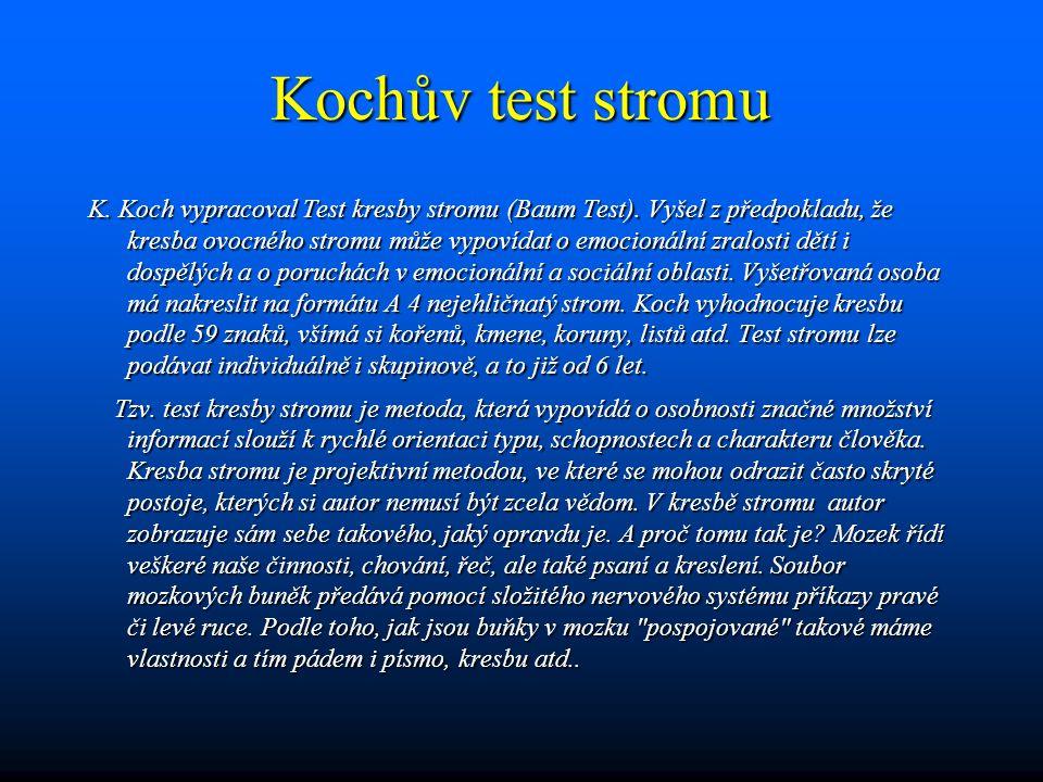Kochův test stromu
