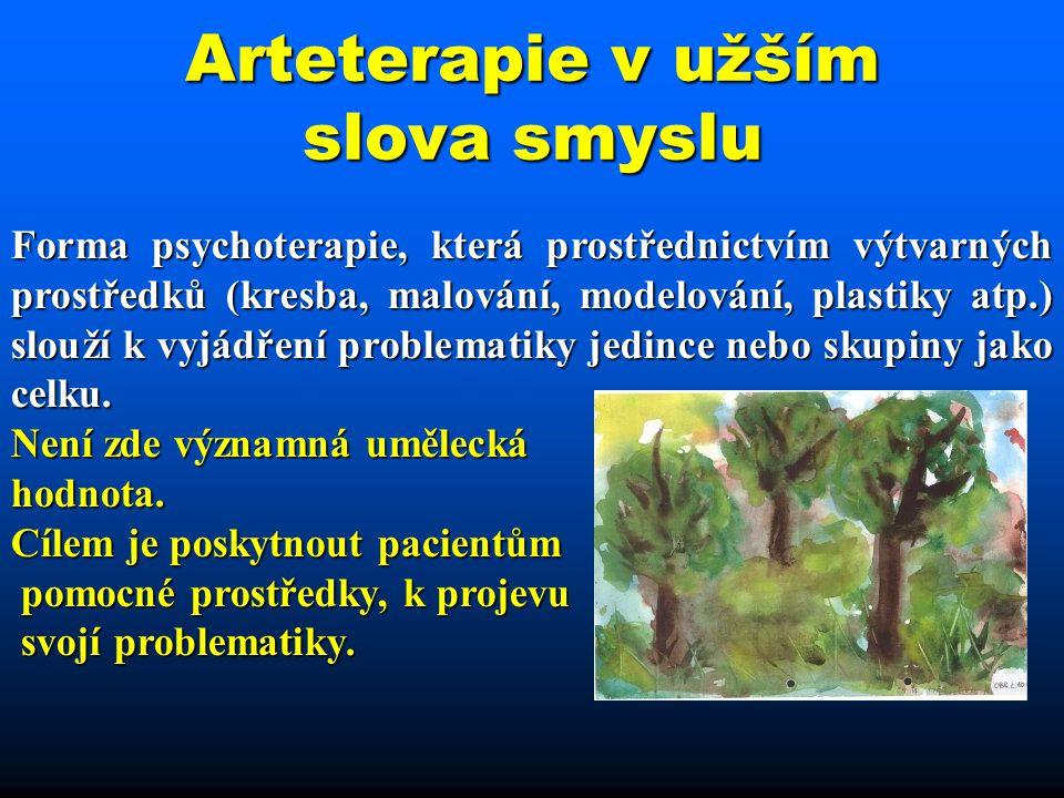 Arteterapie v užším slova smyslu
