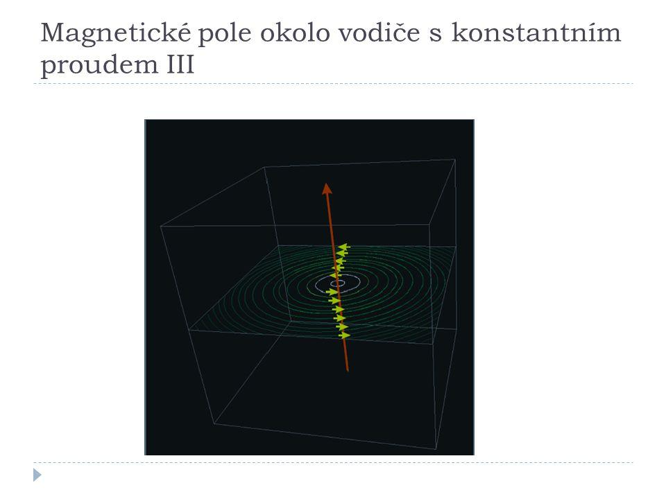 Magnetické pole okolo vodiče s konstantním proudem III