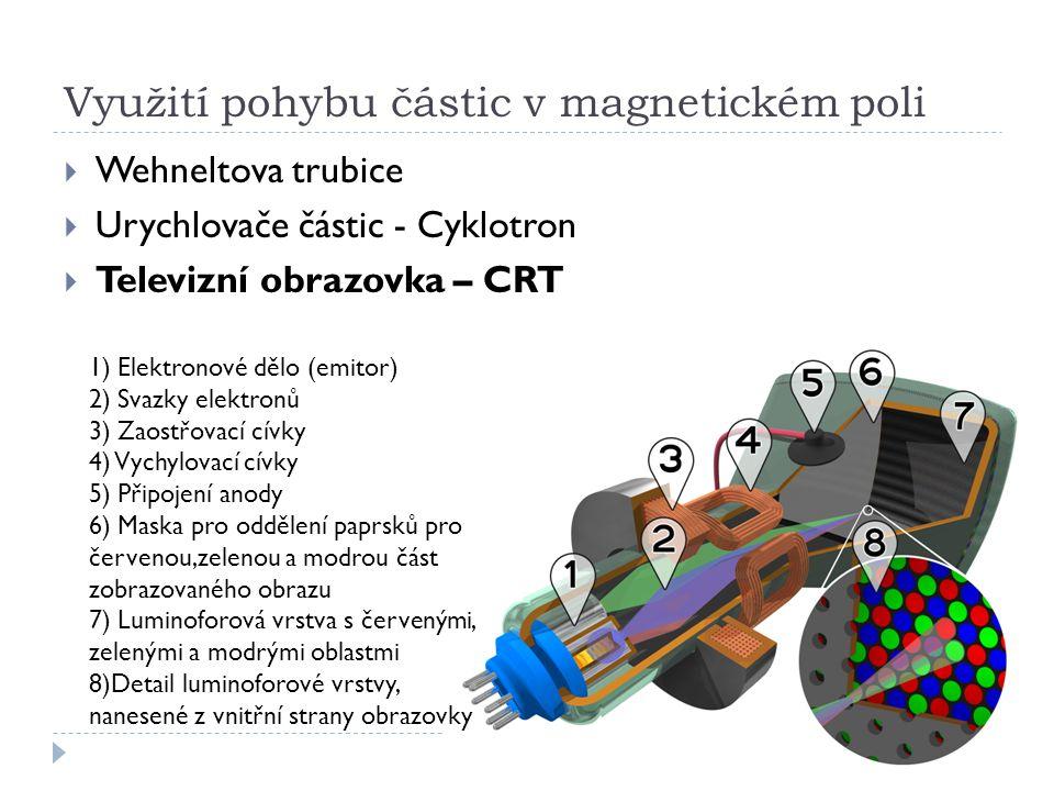 Využití pohybu částic v magnetickém poli