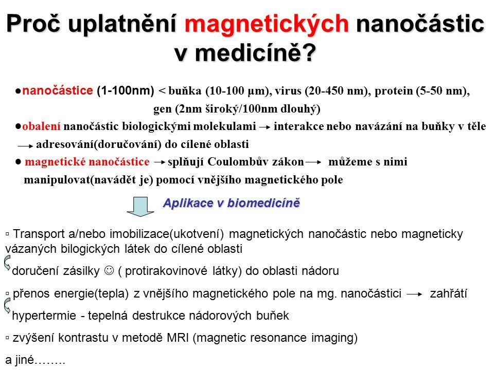 Proč uplatnění magnetických nanočástic v medicíně