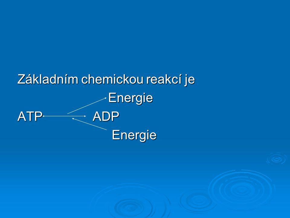 Základním chemickou reakcí je