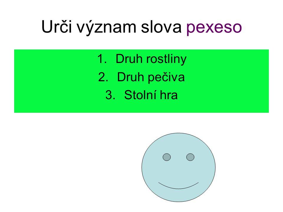 Urči význam slova pexeso