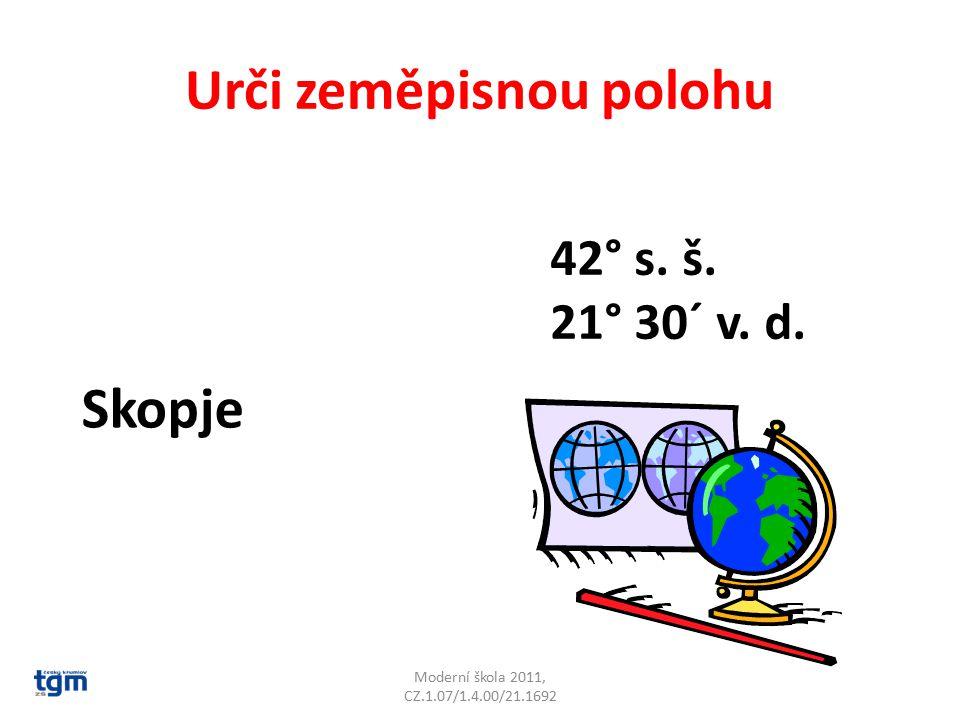 Urči zeměpisnou polohu