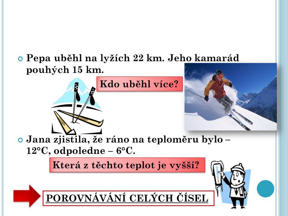 Pepa uběhl na lyžích 22 km. Jeho kamarád pouhých 15 km.