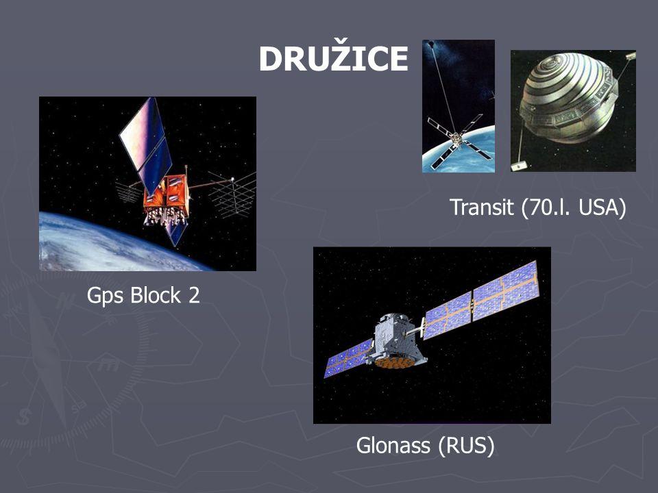 DRUŽICE Transit (70.l. USA) Gps Block 2 Glonass (RUS)