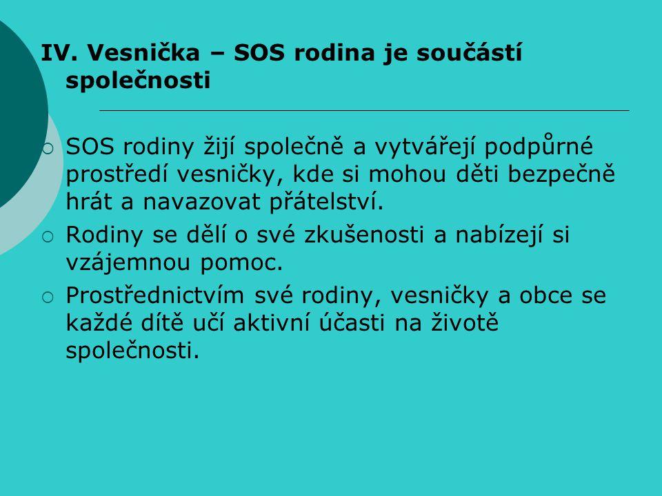 IV. Vesnička – SOS rodina je součástí společnosti