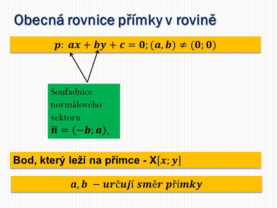 Obecná rovnice přímky v rovině