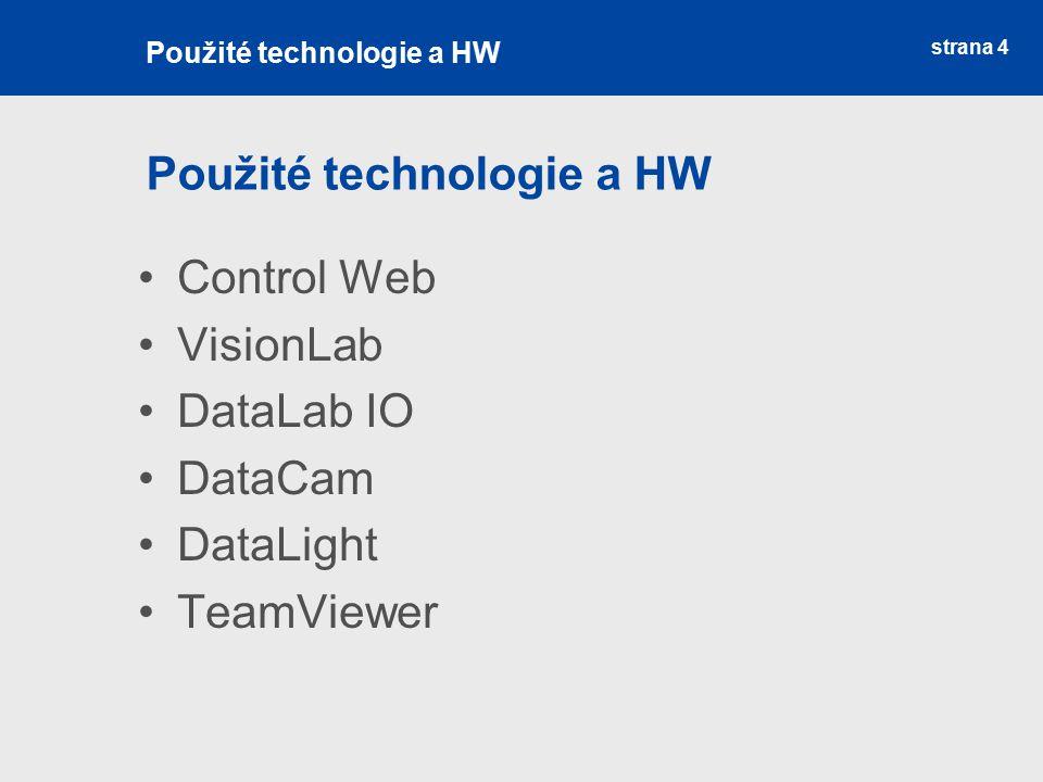 Použité technologie a HW
