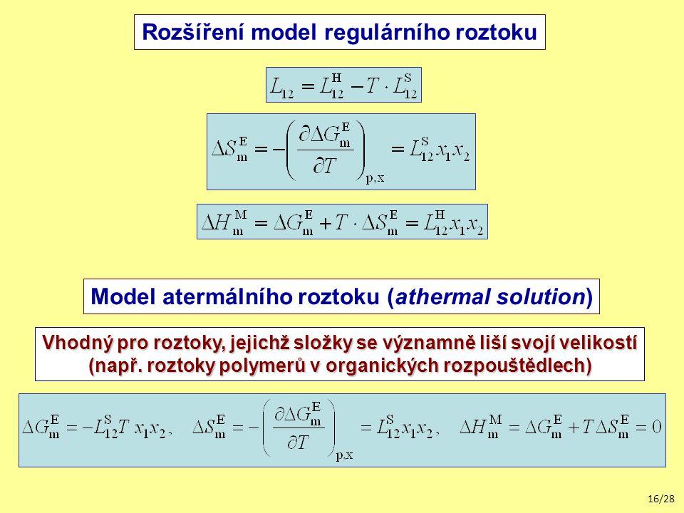 Rozšíření model regulárního roztoku