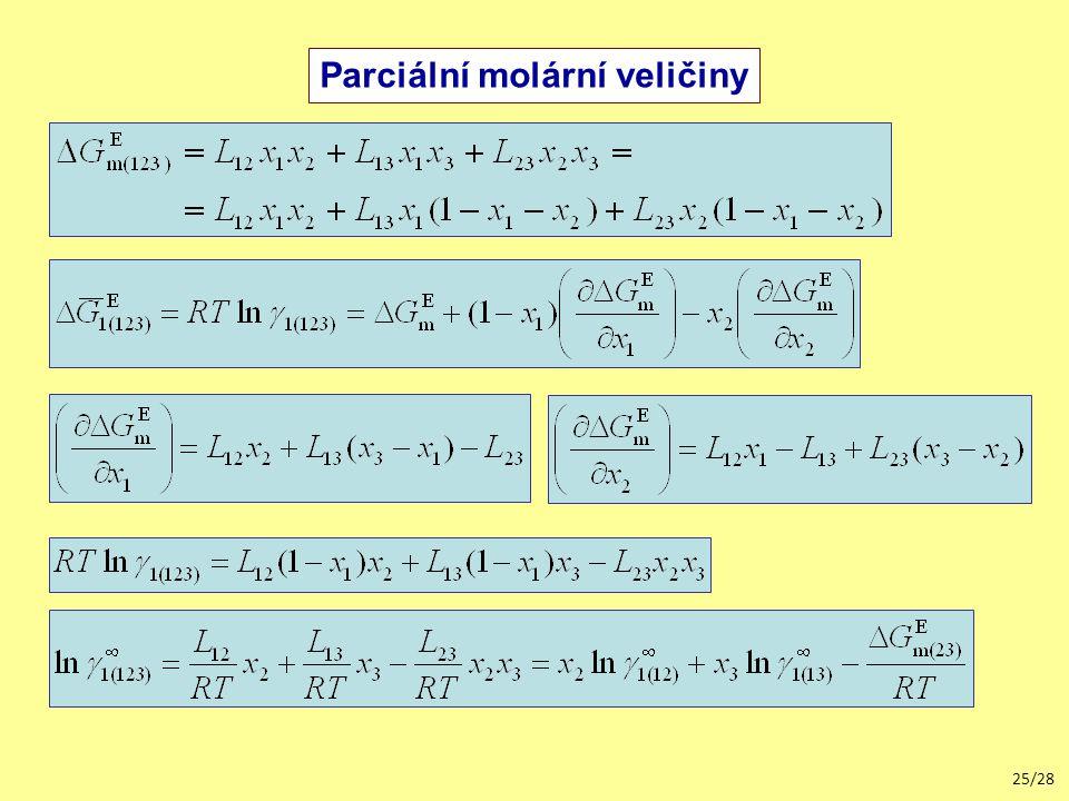 Parciální molární veličiny