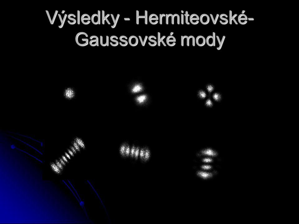 Výsledky - Hermiteovské-Gaussovské mody