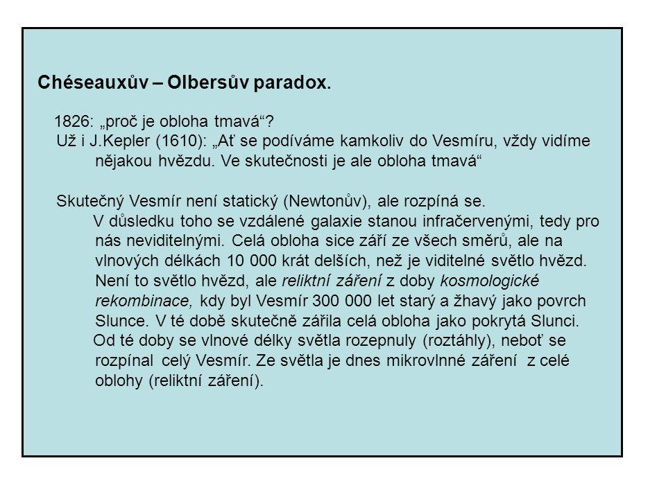 Chéseauxův – Olbersův paradox.