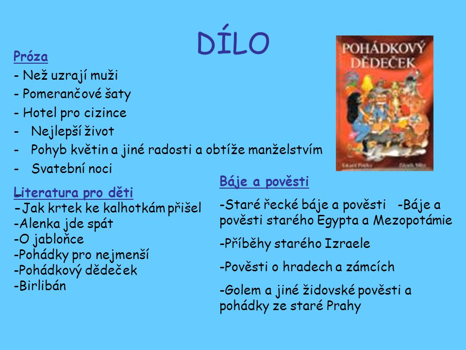DÍLO - Próza - Než uzrají muži - Pomerančové šaty - Hotel pro cizince