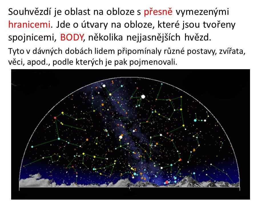 Souhvězdí je oblast na obloze s přesně vymezenými hranicemi