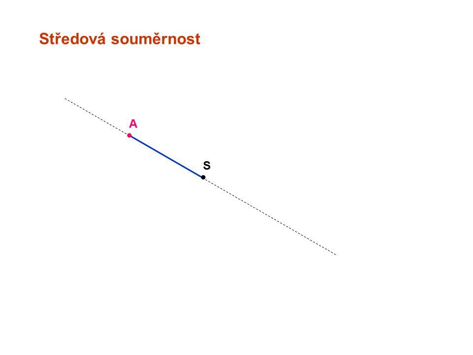 Středová souměrnost A S