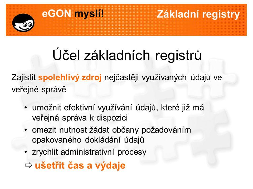 Účel základních registrů