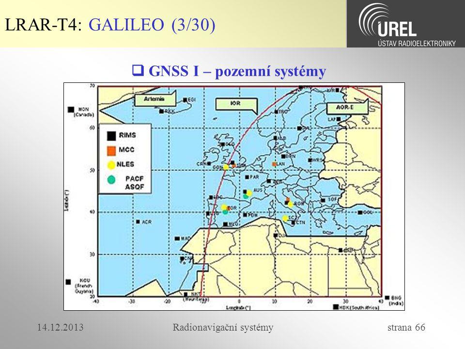  GNSS I – pozemní systémy