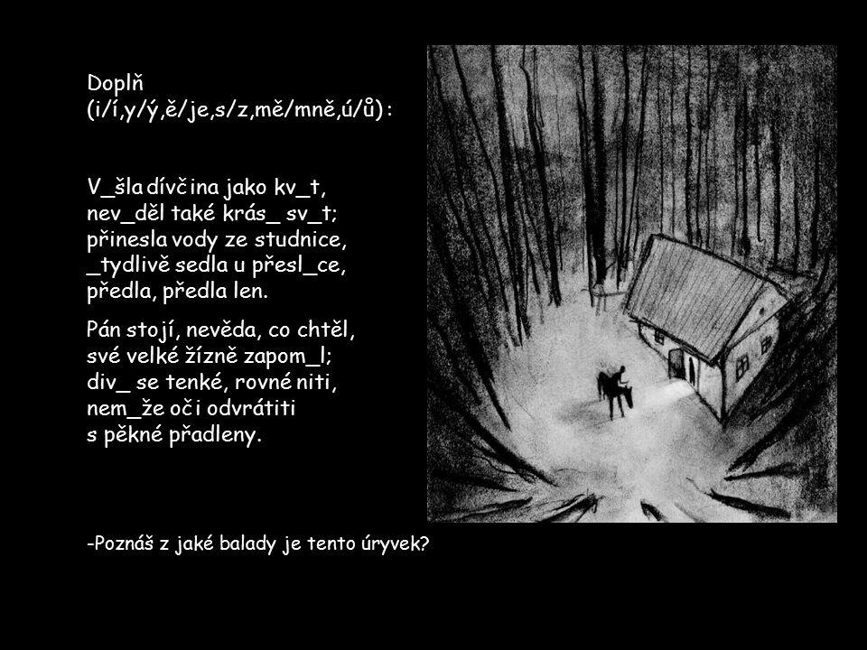 Doplň (i/í,y/ý,ě/je,s/z,mě/mně,ú/ů) :