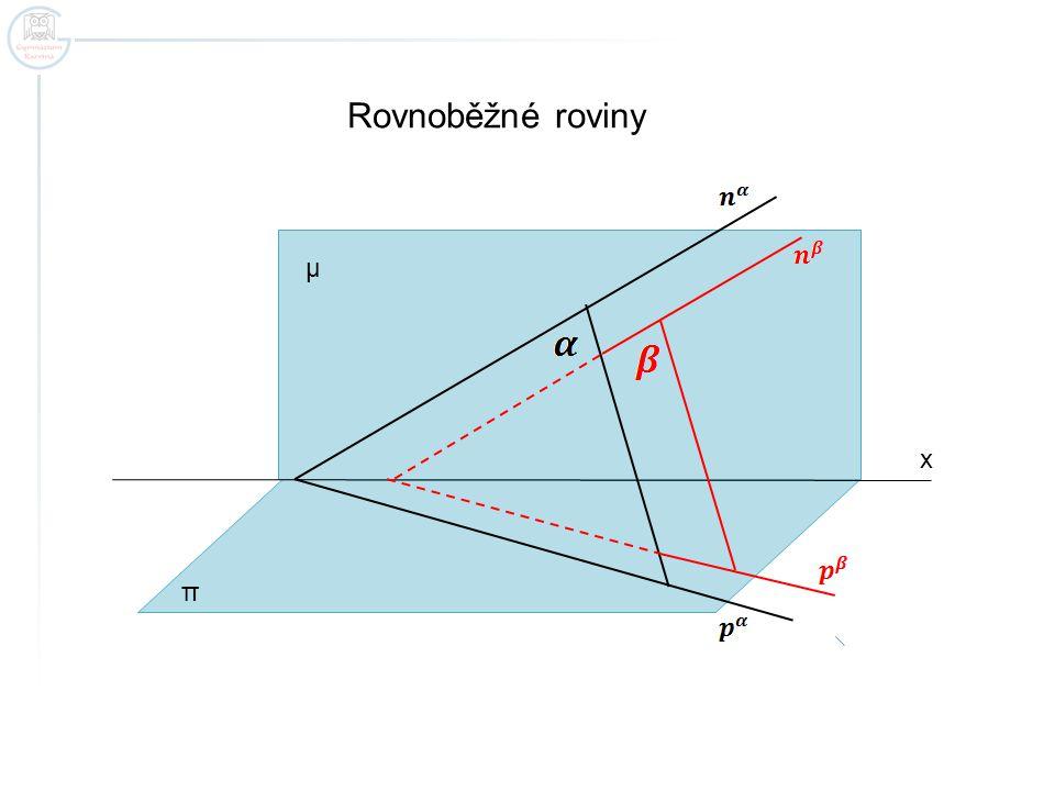 Rovnoběžné roviny μ x π