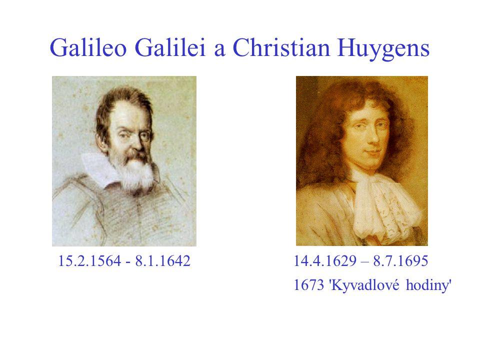 Galileo Galilei a Christian Huygens