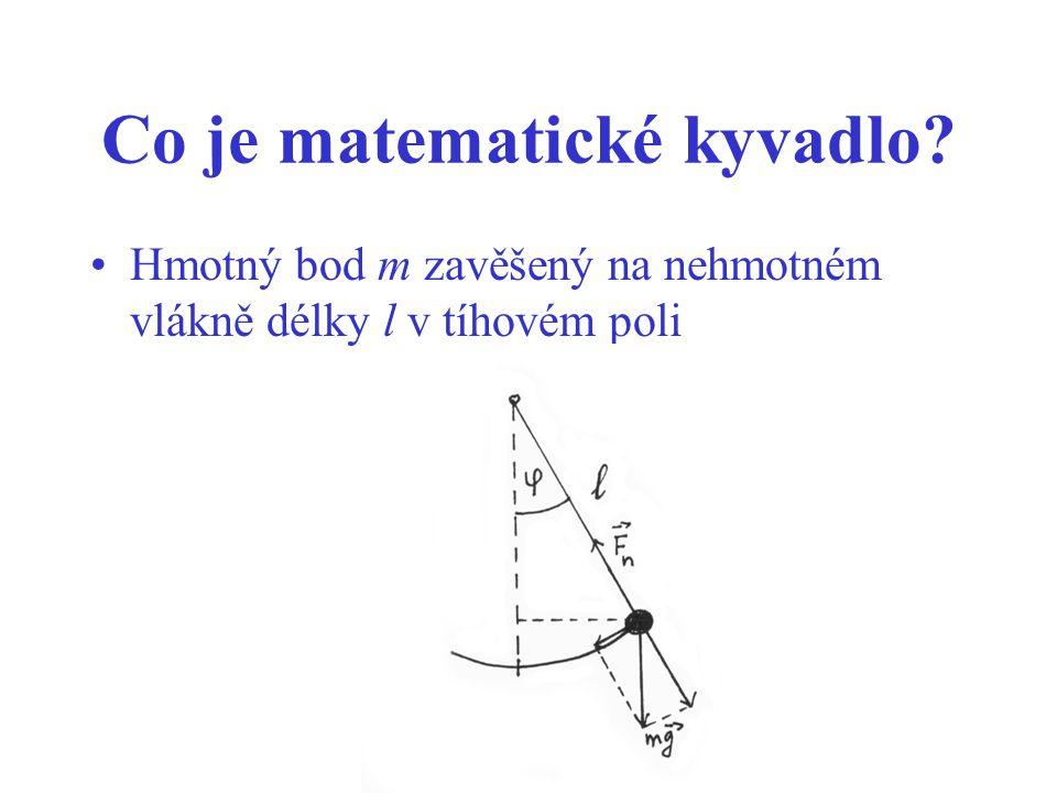 Co je matematické kyvadlo