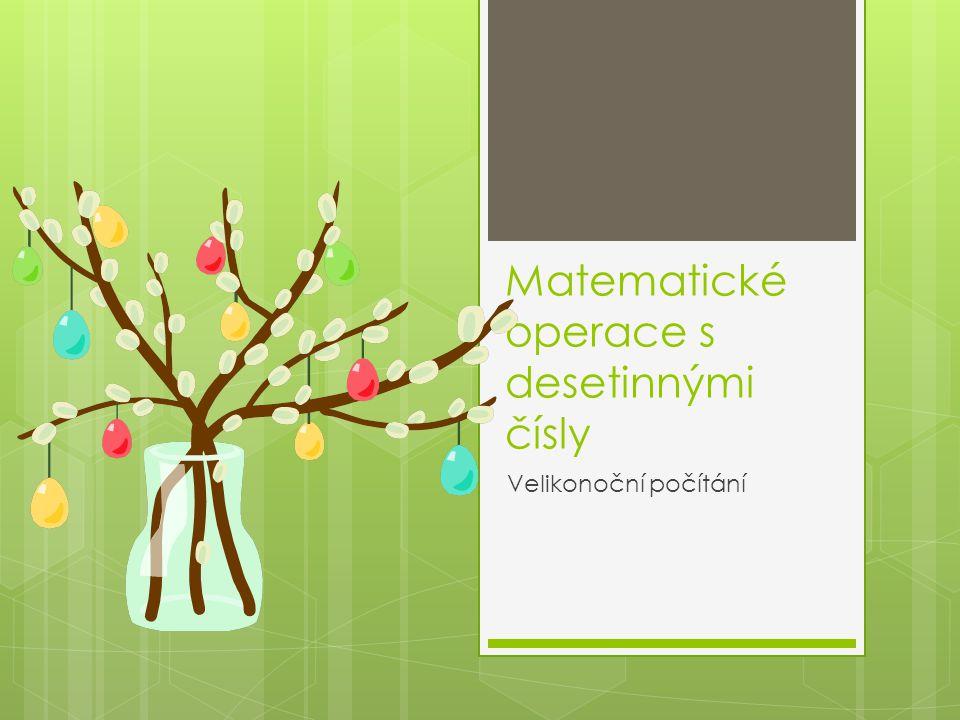 Matematické operace s desetinnými čísly