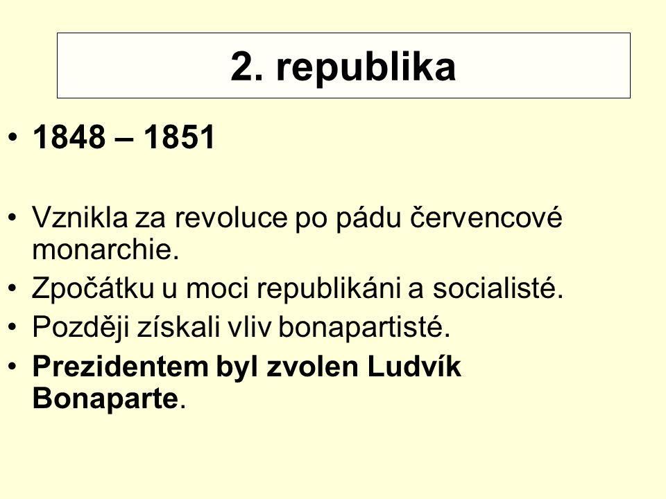 Příčiny války: 2. republika 1848 – 1851