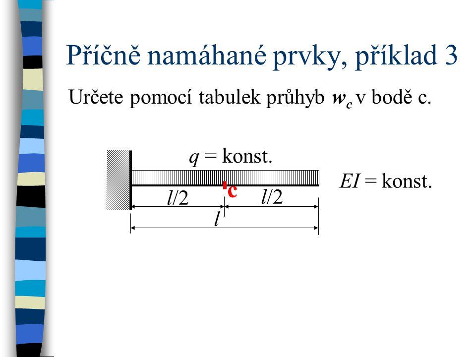 Příčně namáhané prvky, příklad 3