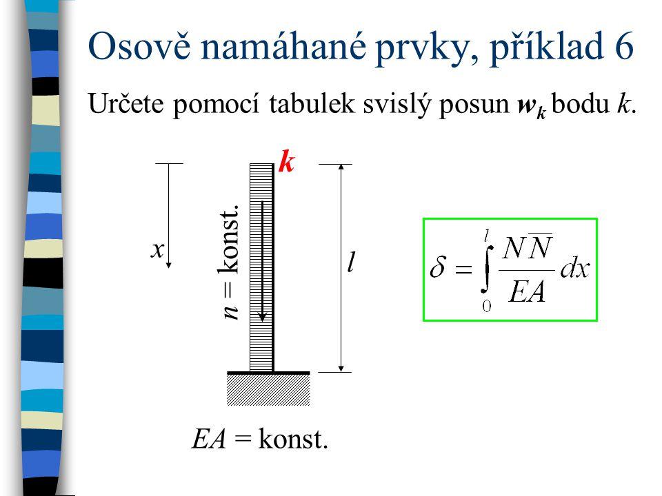 Osově namáhané prvky, příklad 6