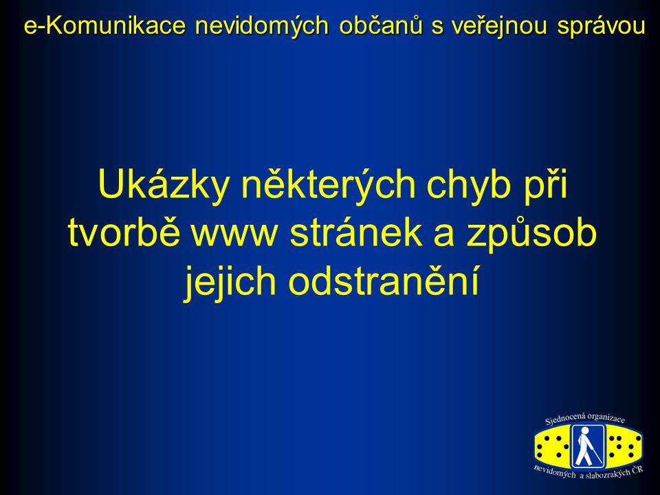 e-Komunikace nevidomých občanů s veřejnou správou