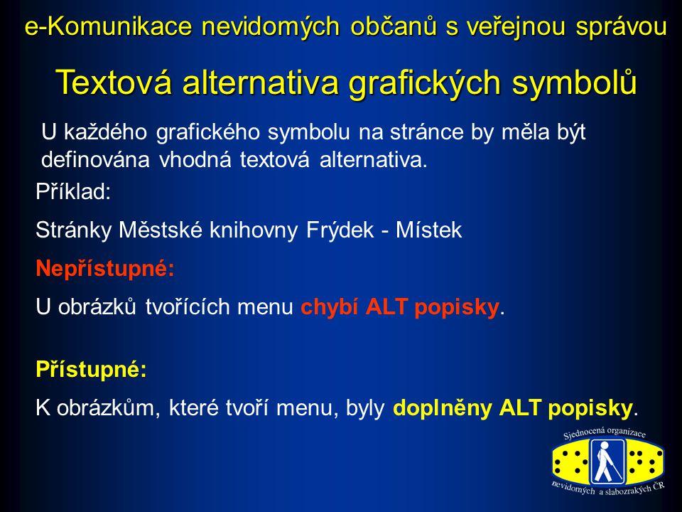 Textová alternativa grafických symbolů