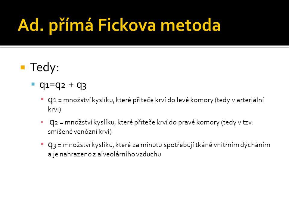 Ad. přímá Fickova metoda