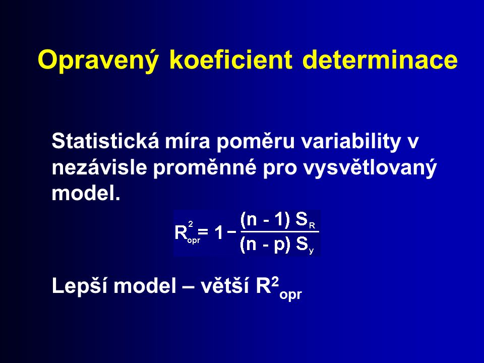 Opravený koeficient determinace