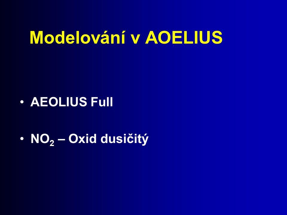 Modelování v AOELIUS AEOLIUS Full NO2 – Oxid dusičitý