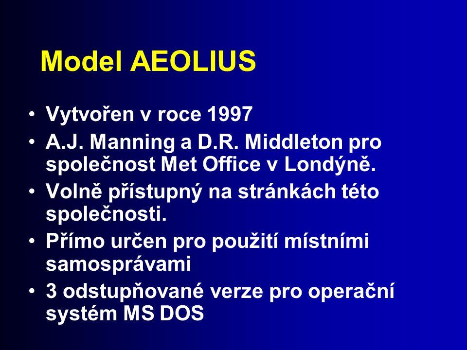 Model AEOLIUS Vytvořen v roce 1997