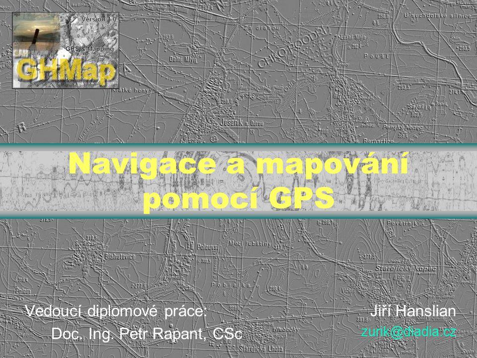 Navigace a mapování pomocí GPS