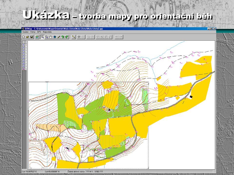 Ukázka – tvorba mapy pro orientační běh