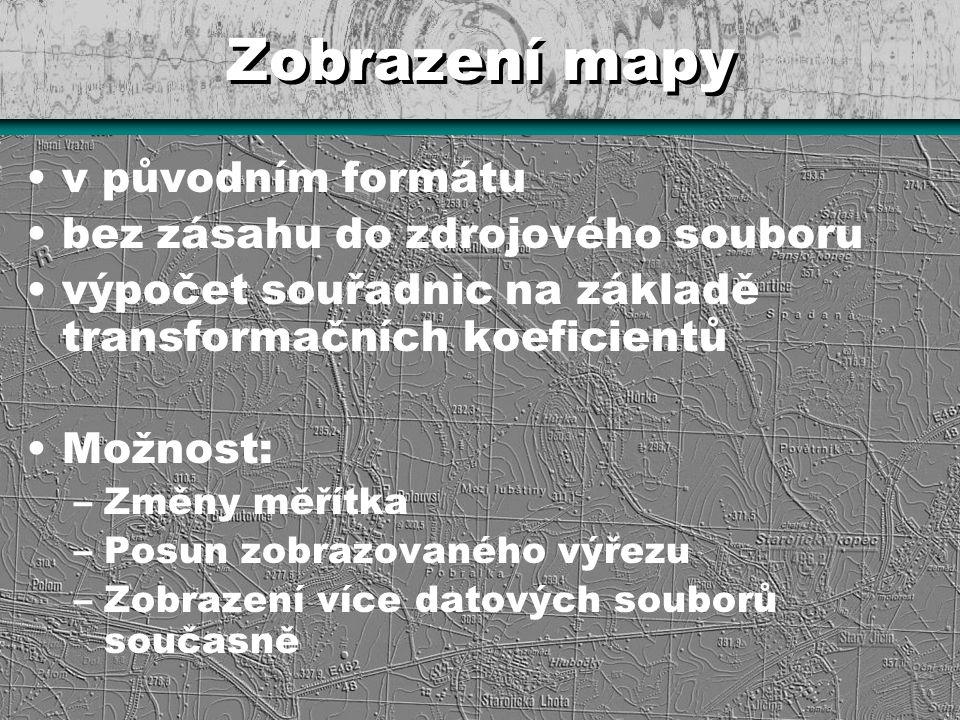 Zobrazení mapy v původním formátu bez zásahu do zdrojového souboru