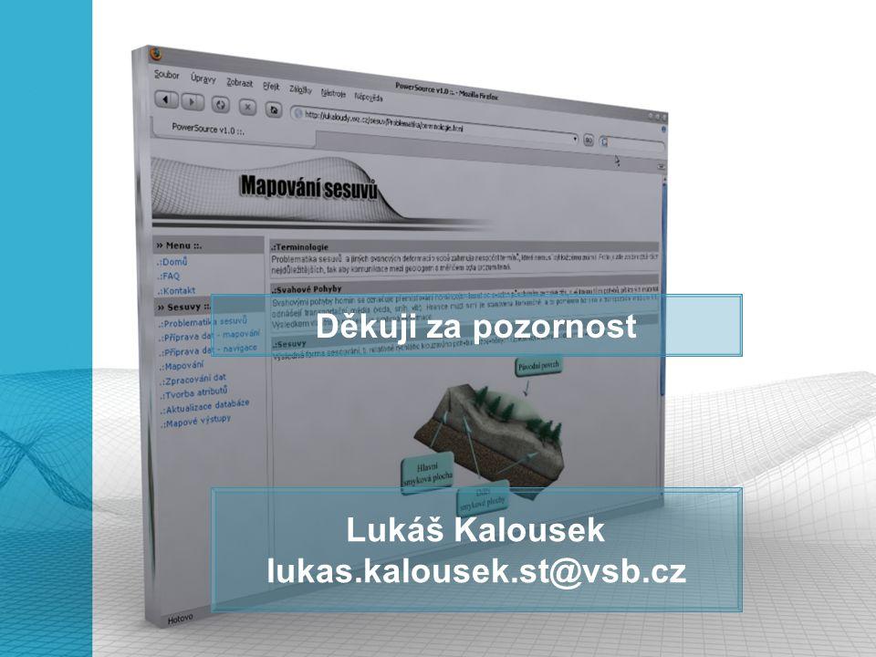Děkuji za pozornost Lukáš Kalousek lukas.kalousek.st@vsb.cz
