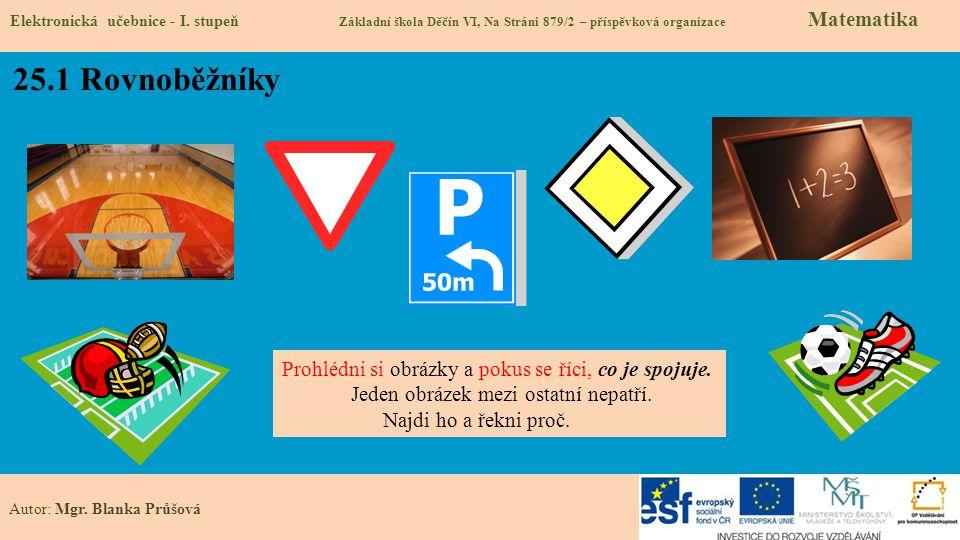 25.1 Rovnoběžníky Prohlédni si obrázky a pokus se říci, co je spojuje.