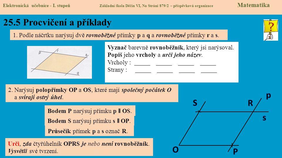 25.5 Procvičení a příklady p S R s O P