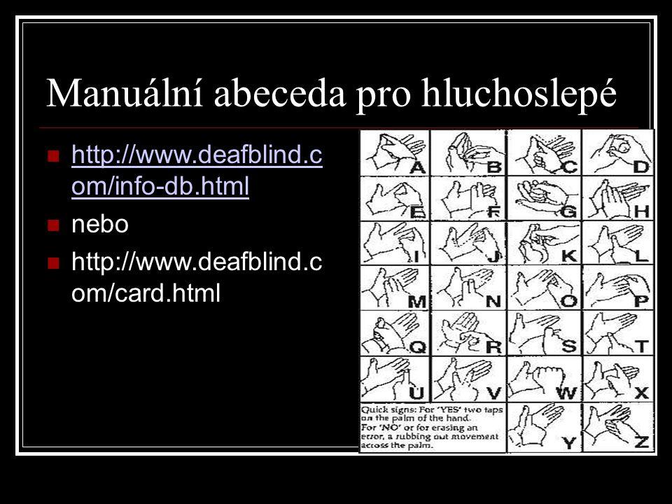 Manuální abeceda pro hluchoslepé