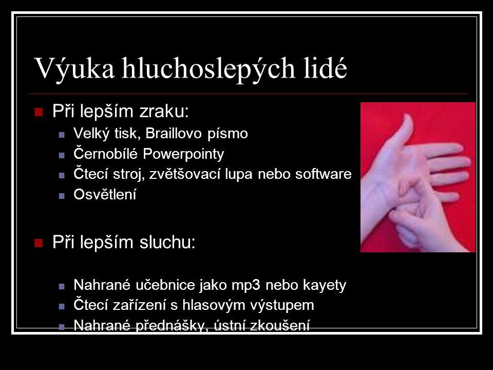 Výuka hluchoslepých lidé