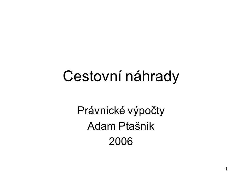 Právnické výpočty Adam Ptašnik 2006