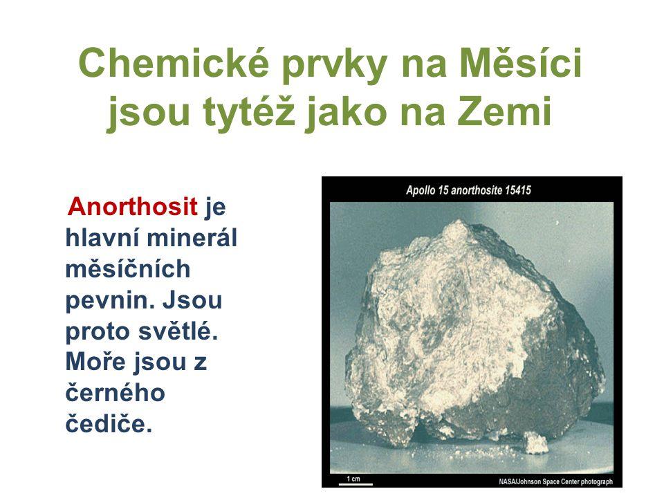 Chemické prvky na Měsíci jsou tytéž jako na Zemi