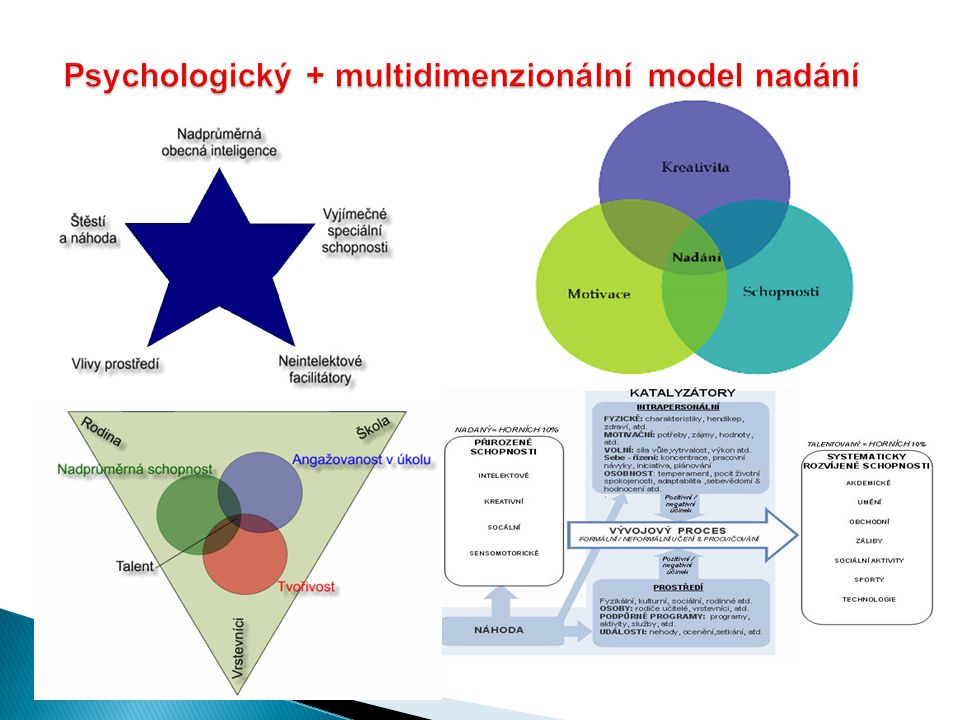 Psychologický + multidimenzionální model nadání