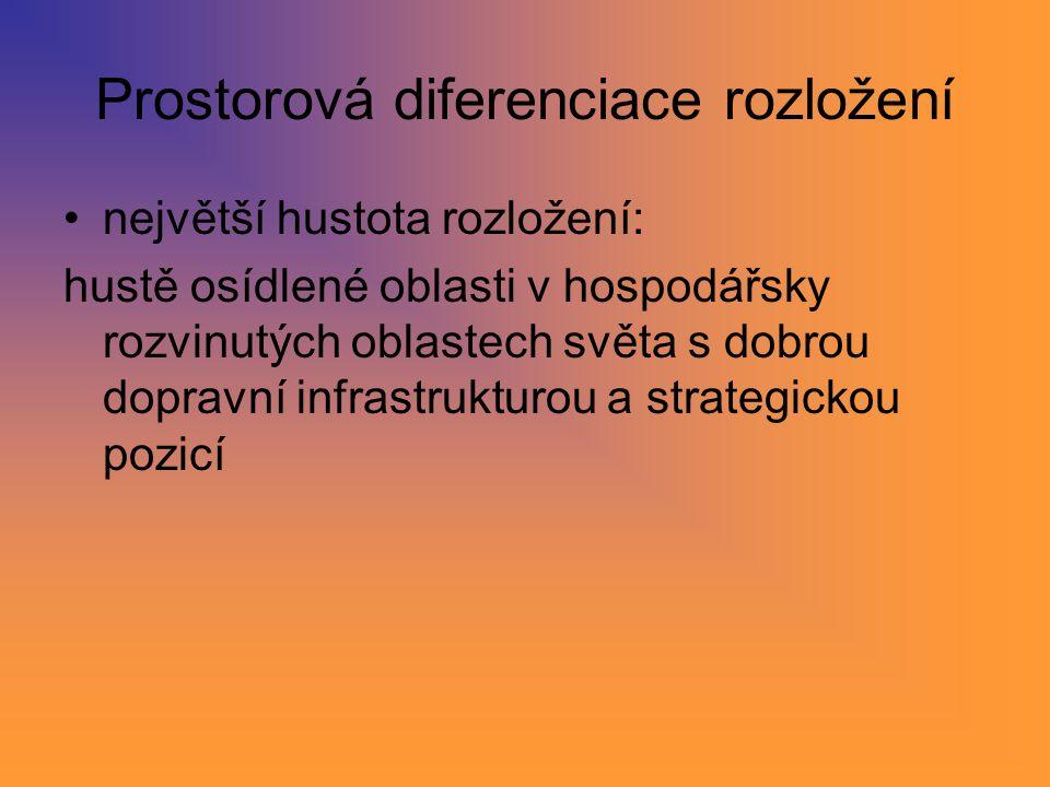 Prostorová diferenciace rozložení