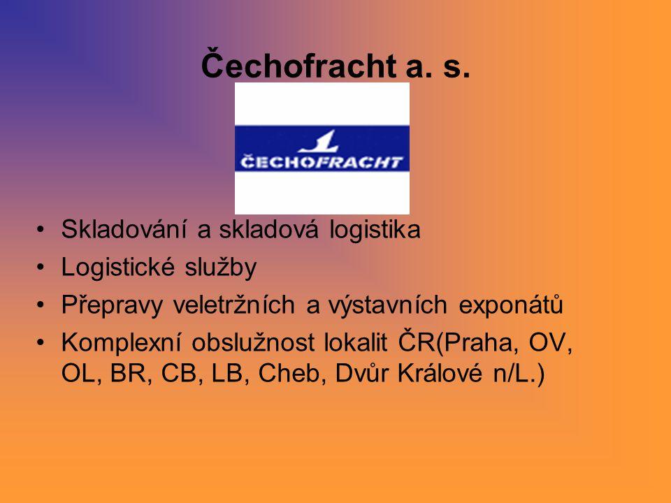 Čechofracht a. s. Skladování a skladová logistika Logistické služby